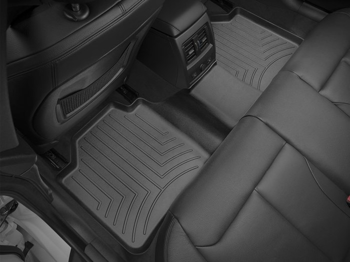 WeatherTech DigitalFit Floor Mats for BMW [Covers Rear, Black] (WEA95071)