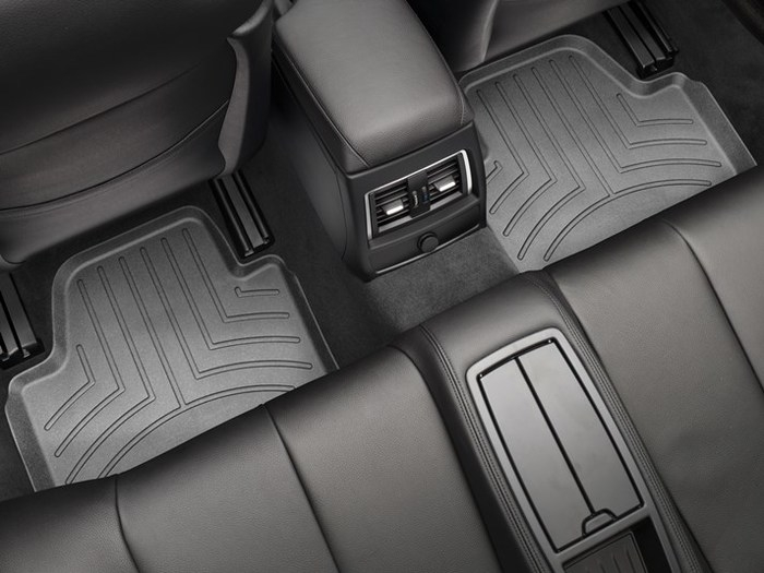 WeatherTech DigitalFit Floor Mats for BMW [Covers Rear, Black] (WEA95408)