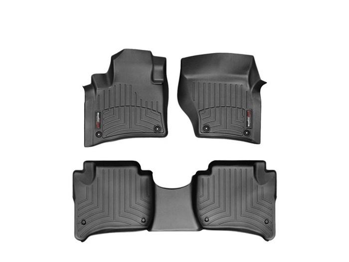 WeatherTech DigitalFit Floor Mats for Cayenne/Touareg [Covers Front & Rear, Black] (WEA94884)