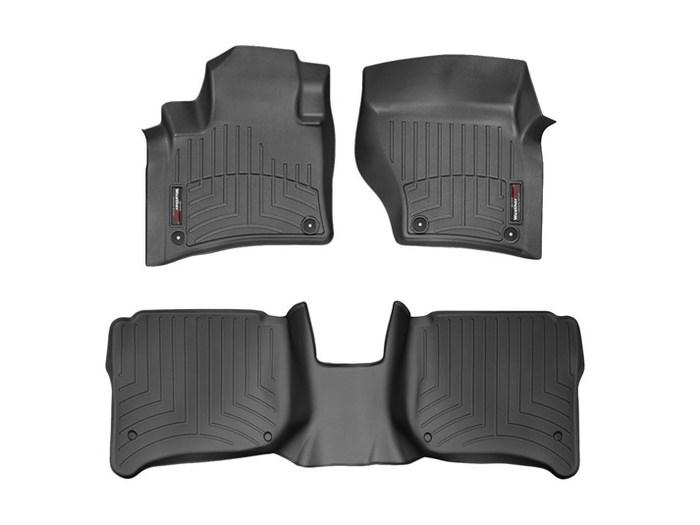 WeatherTech DigitalFit Floor Mats for Cayenne/Touareg [Covers Front & Rear, Black] (WEA94885)