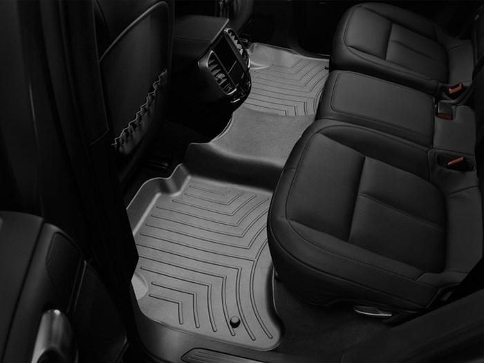 WeatherTech DigitalFit Floor Mats for Cayenne/Touareg [Covers Rear, Black] (WEA94887)