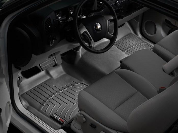 WeatherTech DigitalFit Floor Mats for Chevrolet/GMC [Covers Front, Black] (WEA94756)