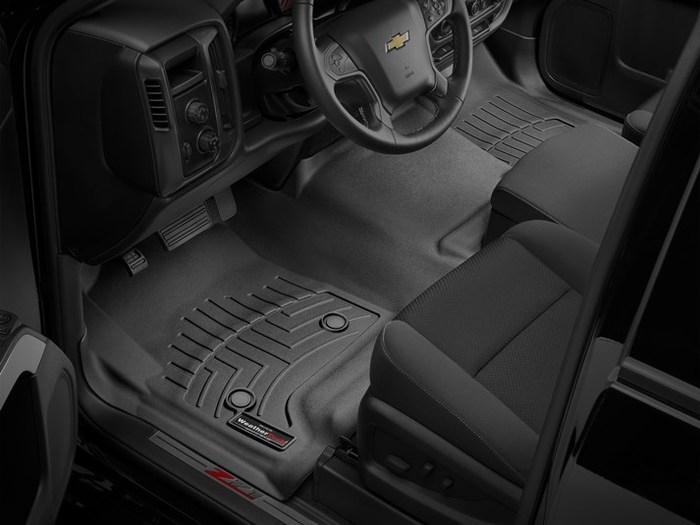 WeatherTech DigitalFit Floor Mats for Chevrolet/GMC [Covers Front, Black] (WEA95366)