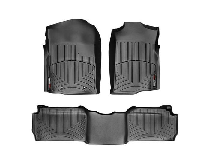 WeatherTech DigitalFit Floor Mats for Chevrolet/GMC [Covers Front & Rear, Black] (WEA94669)