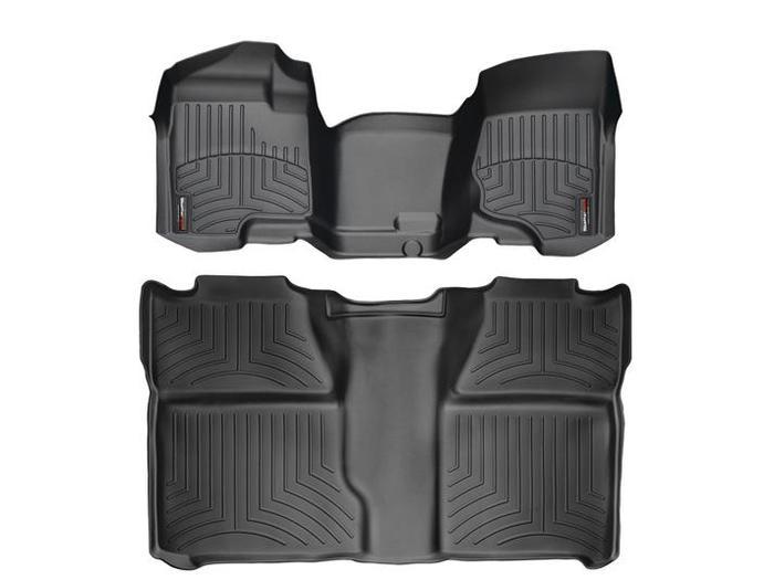 WeatherTech DigitalFit Floor Mats for Chevrolet/GMC [Covers Front & Rear, Black] (WEA94758)