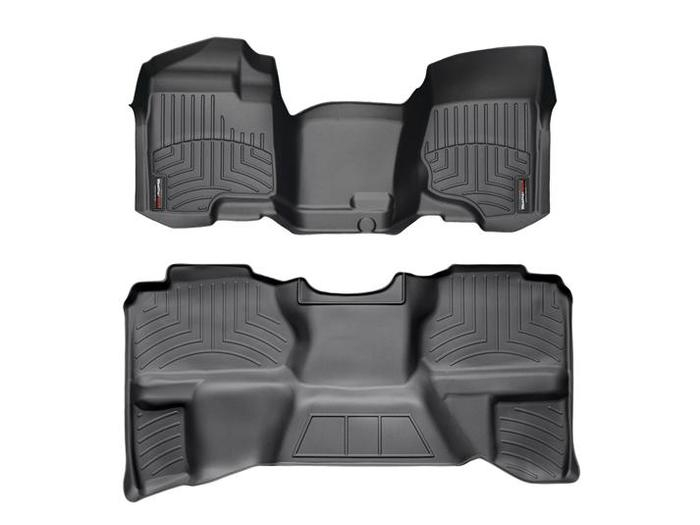 WeatherTech DigitalFit Floor Mats for Chevrolet/GMC [Covers Front & Rear, Black] (WEA94760)