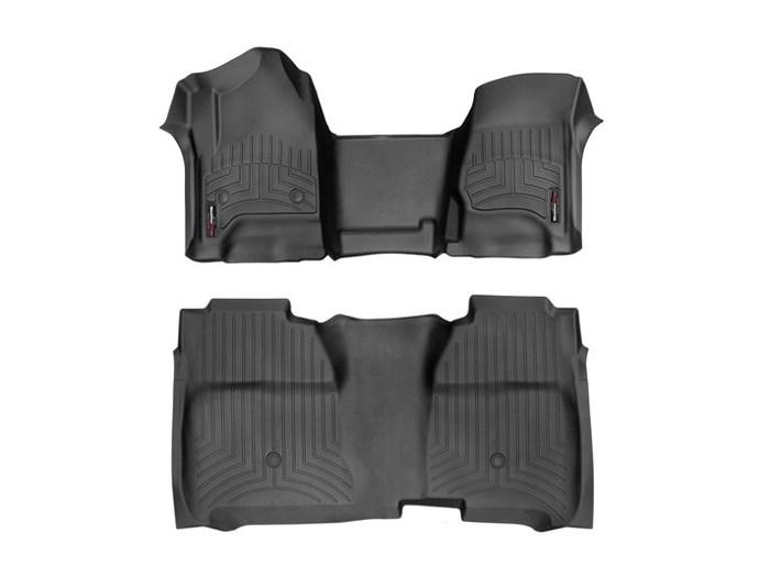 WeatherTech DigitalFit Floor Mats for Chevrolet/GMC [Covers Front & Rear, Black] (WEA95367)
