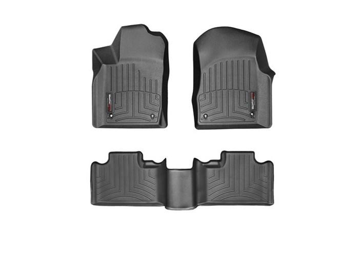 WeatherTech DigitalFit Floor Mats for Durango/Grand Cherokee [Covers Front & Rear, Black] (WEA95244)