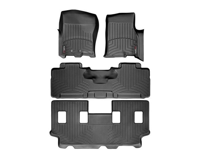 WeatherTech DigitalFit Floor Mats for Expedition/Navigator [Covers Front & Rear, Black] (WEA94936)