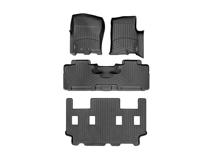 WeatherTech DigitalFit Floor Mats for Expedition/Navigator [Covers Front & Rear, Black] (WEA94937)