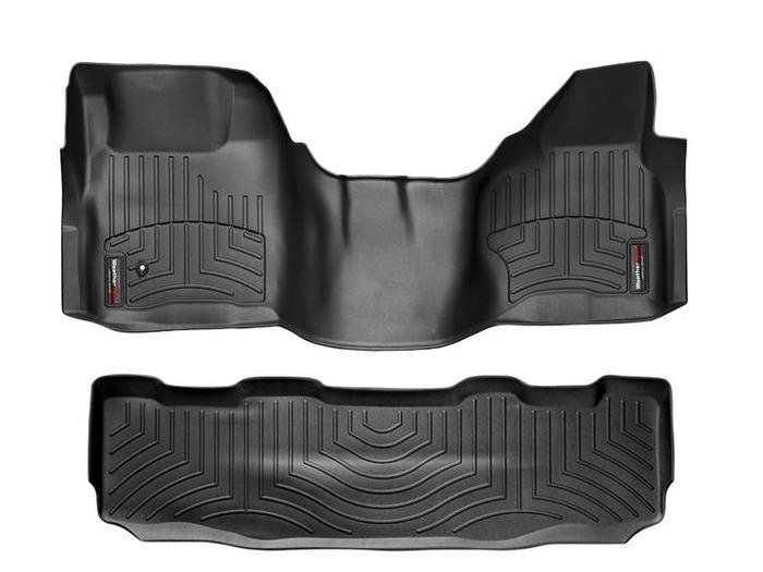 WeatherTech DigitalFit Floor Mats for F-250 Super Duty/F-350 Super Duty [Covers Front & Rear, Black] (WEA94754)