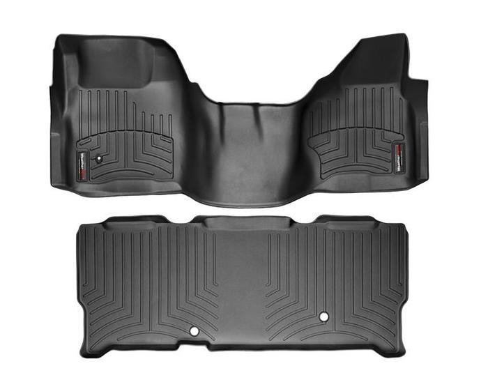 WeatherTech DigitalFit Floor Mats for F-250 Super Duty/F-350 Super Duty [Covers Front & Rear, Black] (WEA94755)