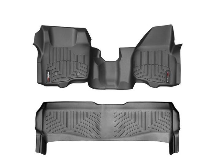 WeatherTech DigitalFit Floor Mats for F-250 Super Duty/F-350 Super Duty [Covers Front & Rear, Black] (WEA94876)