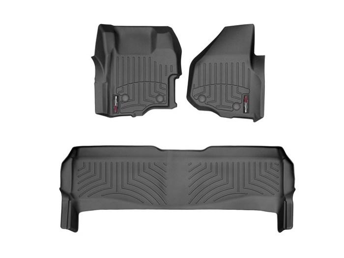 WeatherTech DigitalFit Floor Mats for F-250 Super Duty/F-350 Super Duty [Covers Front & Rear, Black] (WEA95100)