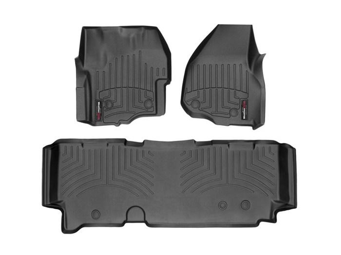 WeatherTech DigitalFit Floor Mats for F-250 Super Duty/F-350 Super Duty [Covers Front & Rear, Black] (WEA95466)