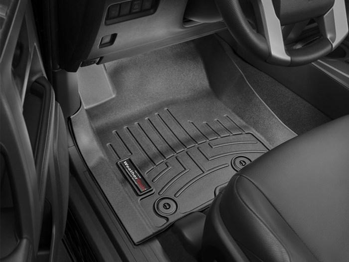 WeatherTech DigitalFit Floor Mats for GX460/4Runner [Covers Front, Black] (WEA95267)