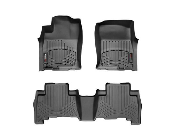 WeatherTech DigitalFit Floor Mats for GX460/4Runner [Covers Front & Rear, Black] (WEA94731)