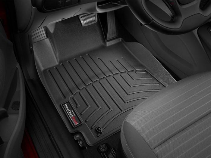 WeatherTech DigitalFit Floor Mats for Kia [Covers Front, Black] (WEA95380)