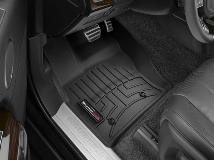 WeatherTech DigitalFit Floor Mats for Land Rover [Covers Front, Black] (WEA95223)