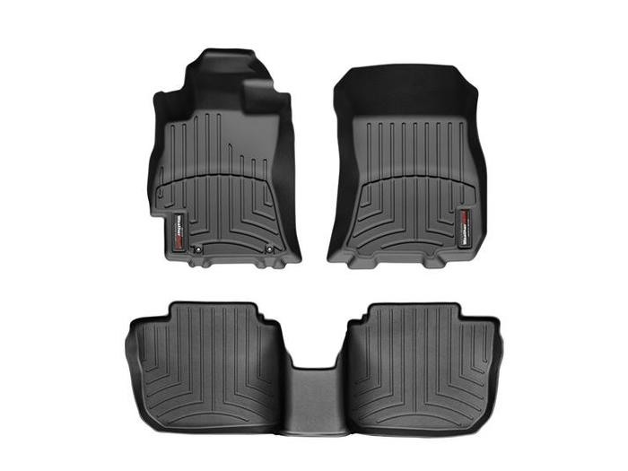 WeatherTech DigitalFit Floor Mats for Legacy/Outback [Covers Front & Rear, Black] (WEA94656)