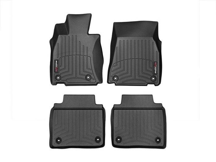 WeatherTech DigitalFit Floor Mats for LS460/LS600h [Covers Front & Rear, Black] (WEA95310)