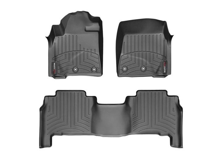 WeatherTech DigitalFit Floor Mats for LX570/Land Cruiser [Covers Front & Rear, Black] (WEA95096)