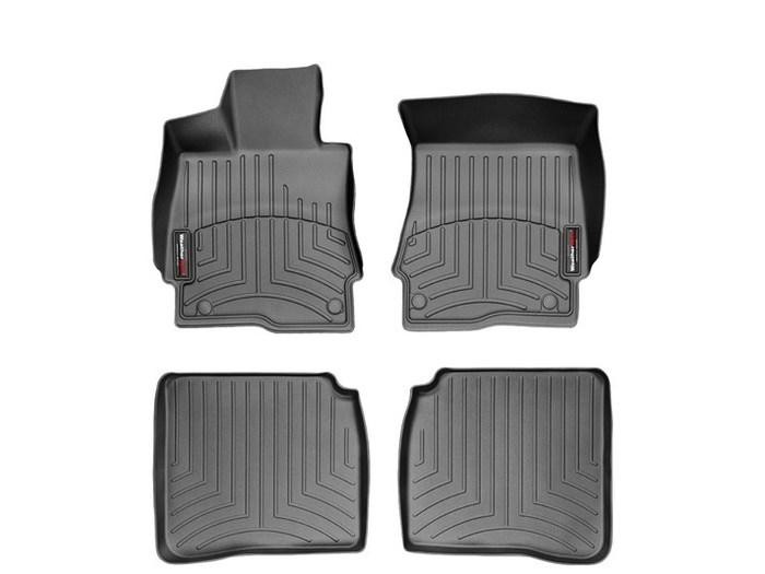 WeatherTech DigitalFit Floor Mats for Mercedes-Benz [Covers Front & Rear, Black] (WEA94636)