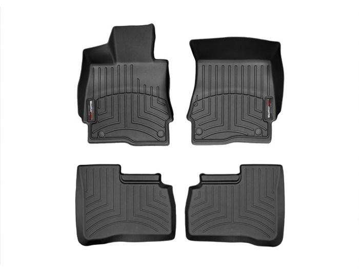 WeatherTech DigitalFit Floor Mats for Mercedes-Benz [Covers Front & Rear, Black] (WEA94637)