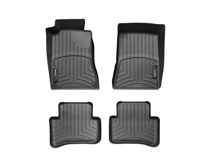 WeatherTech DigitalFit Floor Mats for Mercedes-Benz [Covers Front & Rear, Black] (WEA94666)