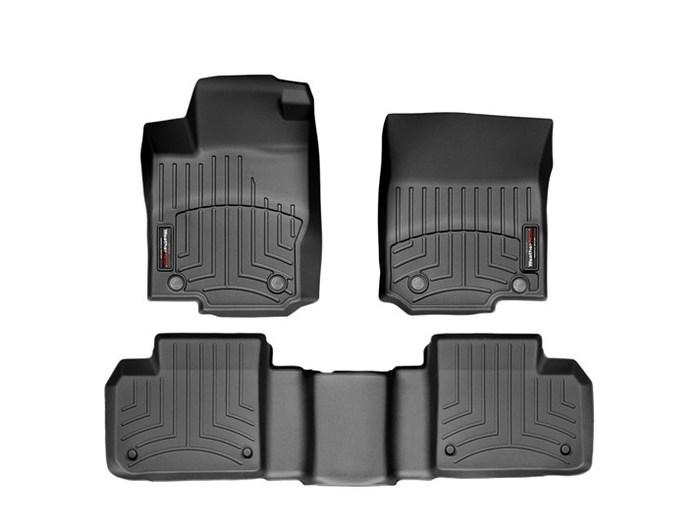 WeatherTech DigitalFit Floor Mats for Mercedes-Benz [Covers Front & Rear, Black] (WEA95030)
