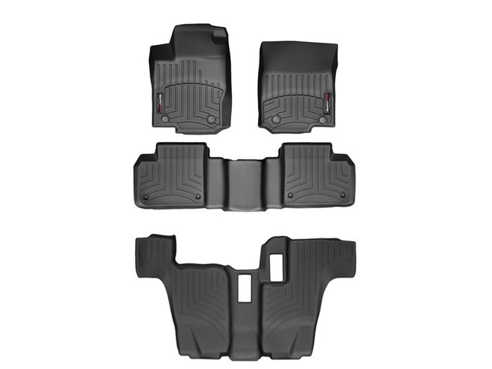 WeatherTech DigitalFit Floor Mats for Mercedes-Benz [Covers Front & Rear, Black] (WEA95031)