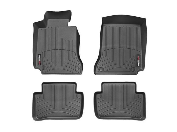WeatherTech DigitalFit Floor Mats for Mercedes-Benz [Covers Front & Rear, Black] (WEA95193)