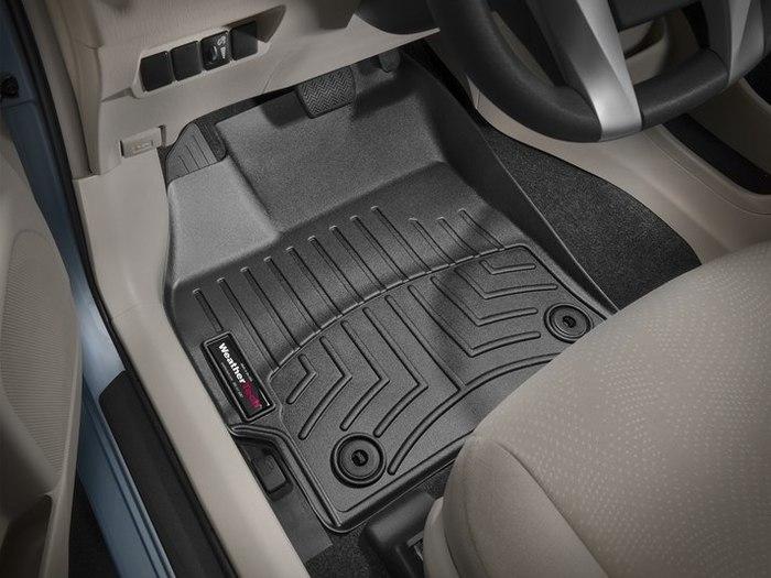 WeatherTech DigitalFit Floor Mats for Prius/Prius V [Covers Front, Black] (WEA95103)