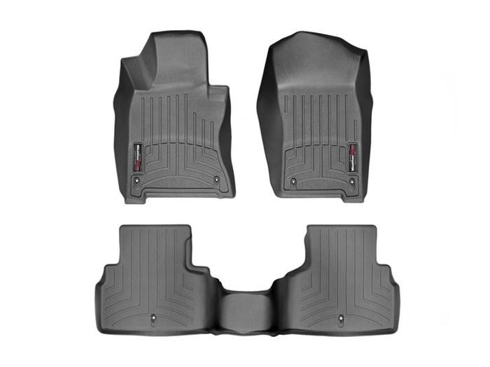 WeatherTech DigitalFit Floor Mats for Q50/Q60 [Covers Front & Rear, Black] (WEA95467)