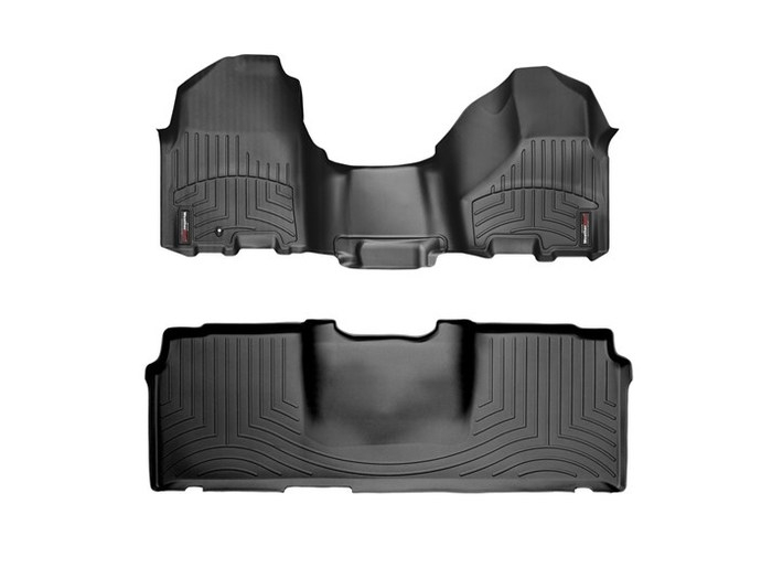 WeatherTech DigitalFit Floor Mats for Ram 2500/Ram 3500 [Covers Front & Rear, Black] (WEA94872)