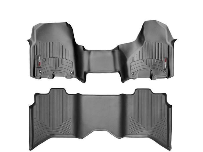 WeatherTech DigitalFit Floor Mats for Ram [Covers Front & Rear, Black] (WEA95214)