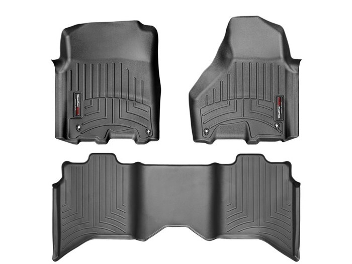 WeatherTech DigitalFit Floor Mats for Ram [Covers Front & Rear, Black] (WEA95218)