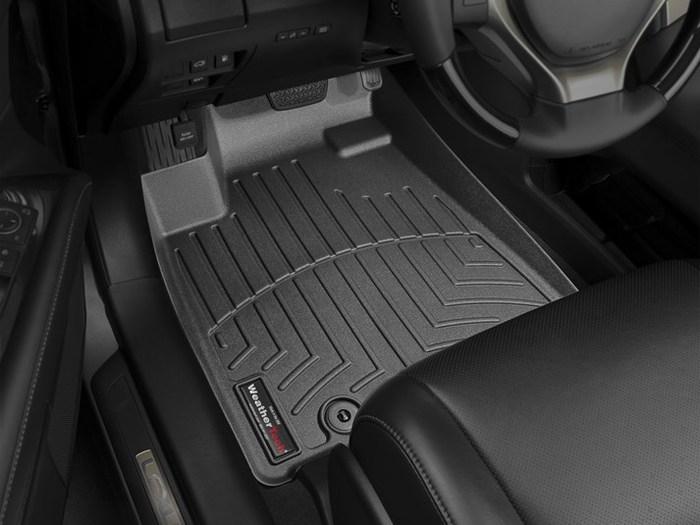 WeatherTech DigitalFit Floor Mats for RX350/RX450h [Covers Front, Black] (WEA95163)