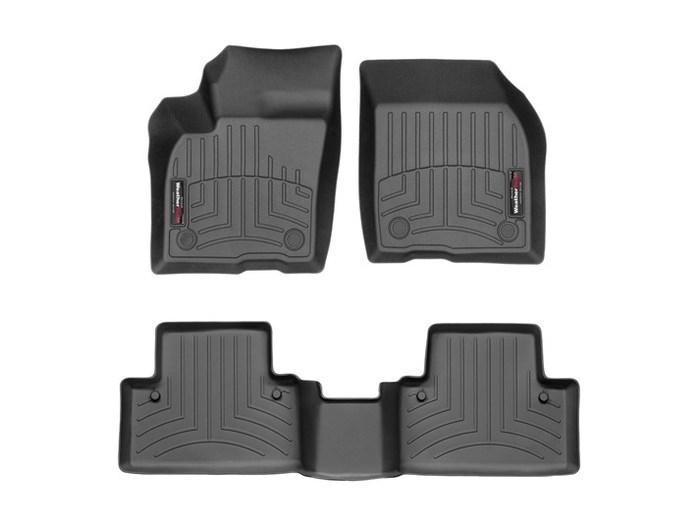 WeatherTech DigitalFit Floor Mats for S40/V50 [Covers Front & Rear, Black] (WEA94712)