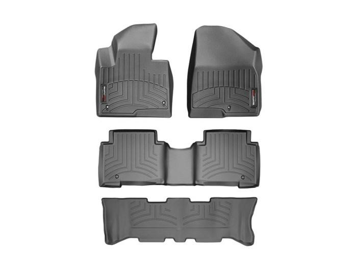 WeatherTech DigitalFit Floor Mats for Santa Fe/Santa Fe XL [Covers Front & Rear, Black] (WEA95127)
