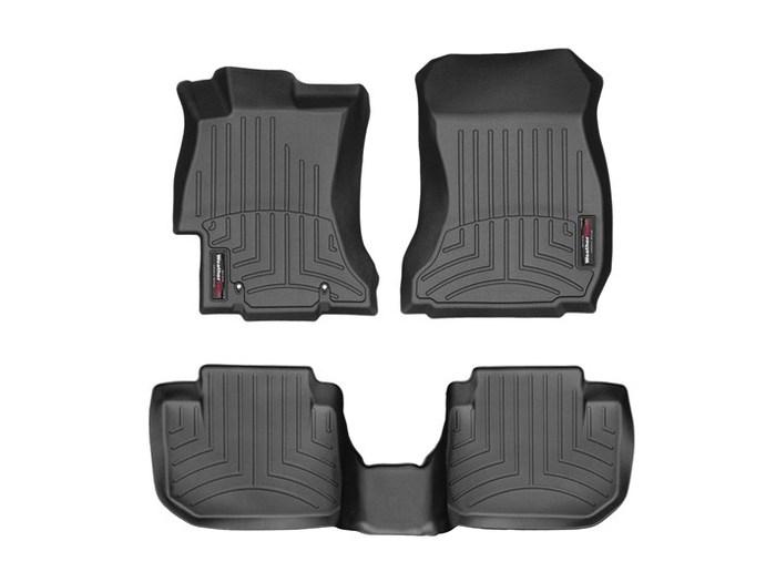 WeatherTech DigitalFit Floor Mats for Subaru [Covers Front & Rear, Black] (WEA95122)