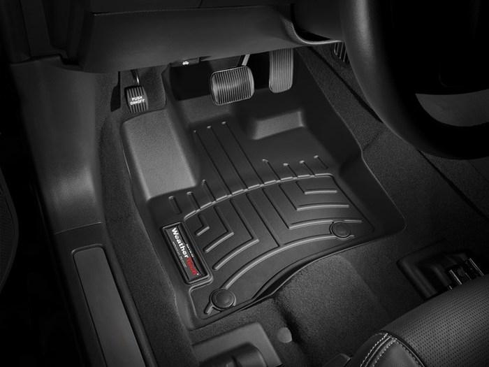 WeatherTech DigitalFit Floor Mats for Taurus/MKS [Covers Rear, Black] (WEA94788)