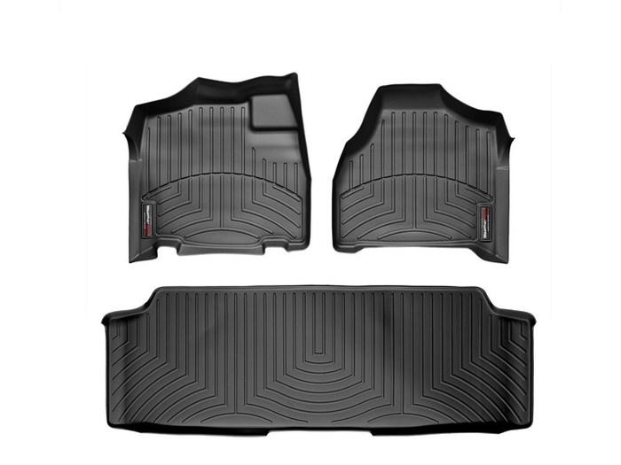WeatherTech DigitalFit Floor Mats for Town & Country/Grand Caravan [Covers Front & Rear, Black] (WEA94950)