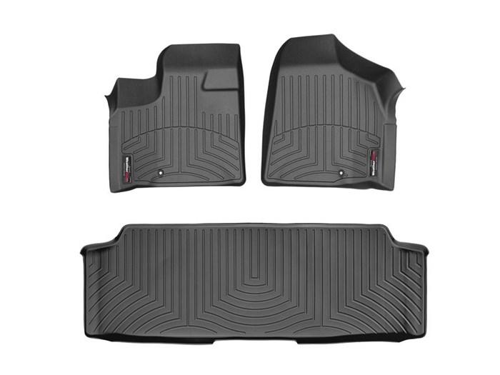 WeatherTech DigitalFit Floor Mats for Town & Country/Grand Caravan [Covers Front & Rear, Black] (WEA95089)