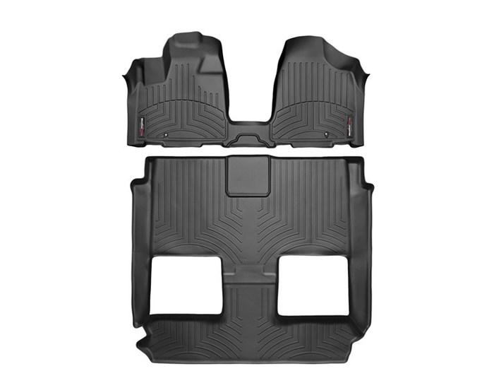 WeatherTech DigitalFit Floor Mats for Town & Country/Grand Caravan [Covers Front & Rear, Black] (WEA95414)