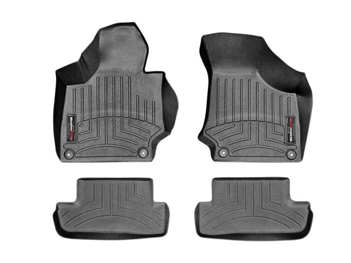WeatherTech DigitalFit Floor Mats for TT/TT Quattro [Covers Front & Rear, Black] (WEA95283)
