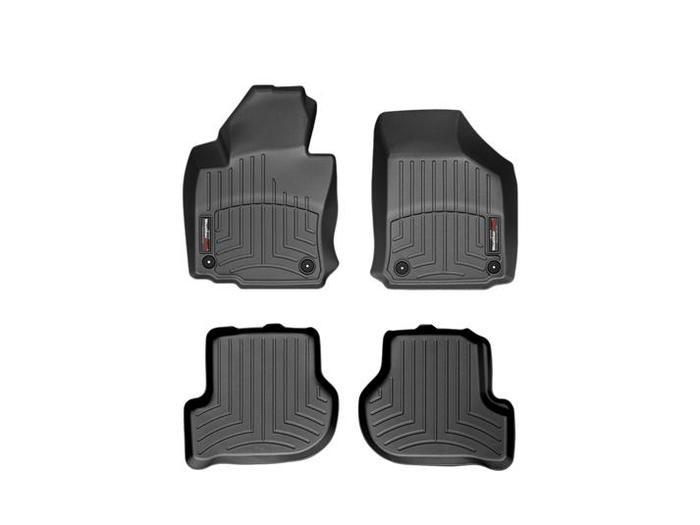 WeatherTech DigitalFit Floor Mats for Volkswagen [Covers Front & Rear, Black] (WEA94680)