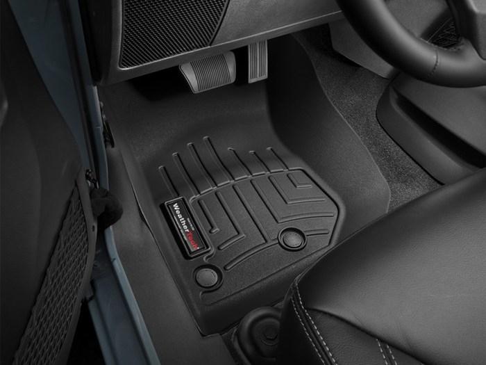 WeatherTech DigitalFit Floor Mats for Wrangler/Wrangler JK [Covers Front, Black] (WEA95441)