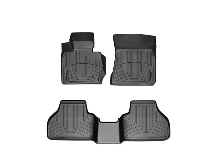 WeatherTech DigitalFit Floor Mats for X3/X4 [Covers Front & Rear, Black] (WEA94880)