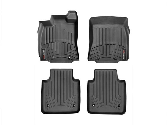 WeatherTech DigitalFit Floor Mats for XJ/XJR [Covers Front & Rear, Black] (WEA95149)